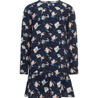 Name It Floral Printed Long Sleeved - Blue/Sky Captain (13148047)