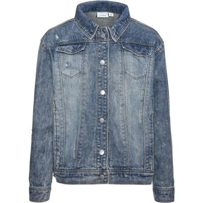Name It Nitbalsa Oversize Denim Jacket - Blue/Light Blue Denim (13143112)