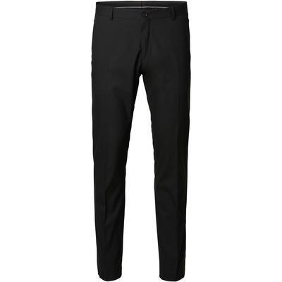 Selected Slim Fit Suit Trousers Black/Black (16051390)
