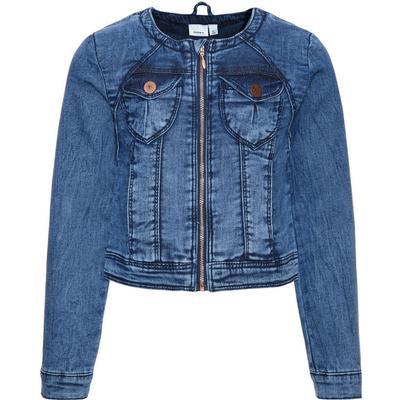 Name It Nitstar Esa Sweat Denim Jacket - Blue/Dark Blue Denim (13144850)