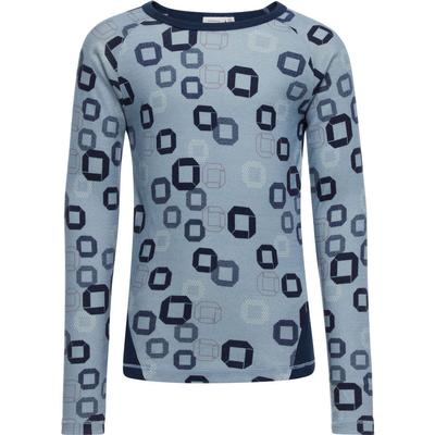 Name It Wool Long Sleeved Top - Blue/Ashley Blue (13139036)