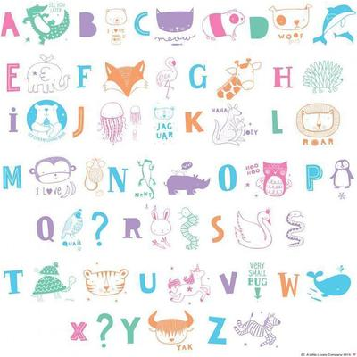 A Little Lovely Company Letter Set ABC Pastel Speciallampa