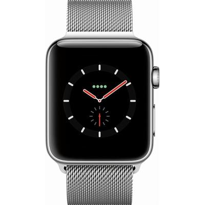 Apple Watch Series 3 Cellular 42mm Stainless Steel Case with Milanese Loop