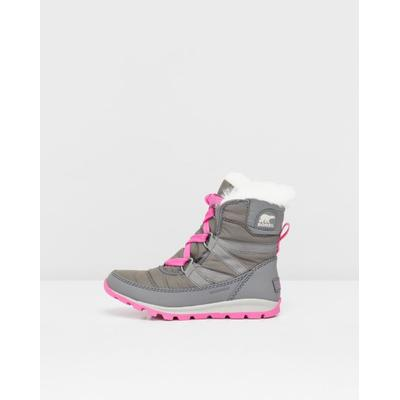 Sorel Youth Whitney Short Lace Boot Quarry/Pink Ice (1767401)