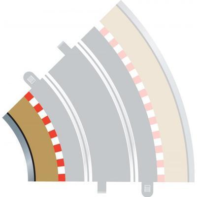 Scalextric Radius 2 Curve Inner Borders 45° x 4 C8225