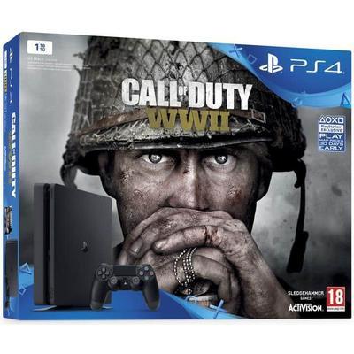 Sony PlayStation 4 Slim 1TB - Call Of Duty: WWII