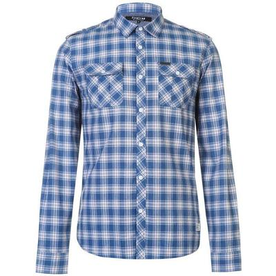 Firetrap Blackseal Blue Check Shirt Blue (55013918)