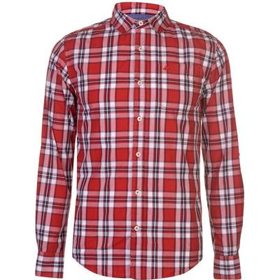 SoulCal Long Sleeve Check Shirt Red/White/Nay (55863192)