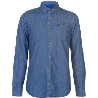 SoulCal LS Denim Shirt Mid Wash (64205391)