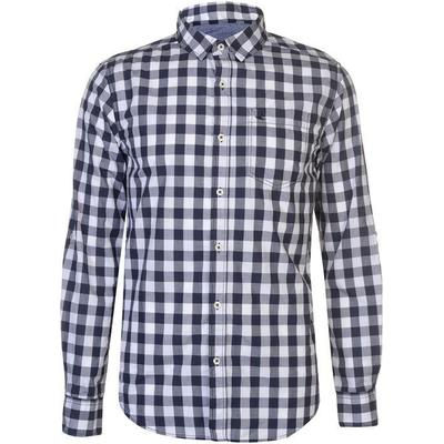 SoulCal Long Sleeve Check Shirt White/Blue Ging (55863191)