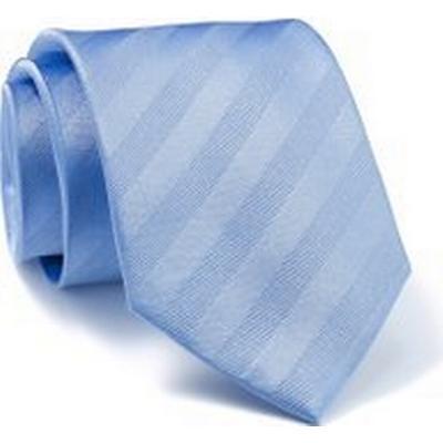 Savile Row Company Blue Self Stripe Silk Tie - Savile Row