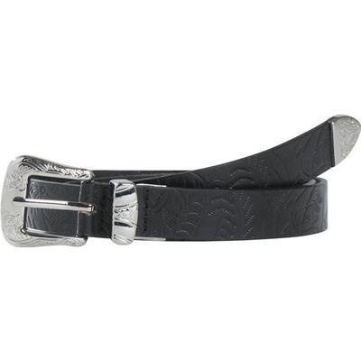 f3f87fcb4ff Pieces Leather Belt Black/Black (17083424) - Sammenlign priser hos ...
