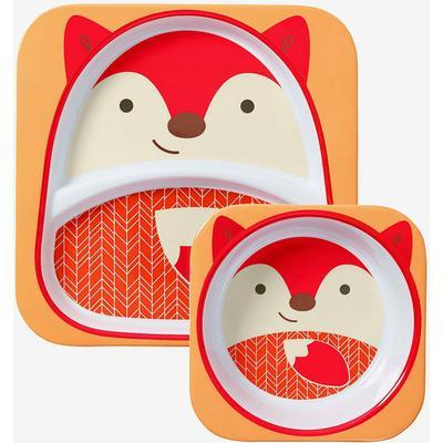 Skip Hop Zoo Melamine Plate & Bowl Set Ferguson Fox