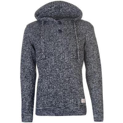 SoulCal Deluxe Pattern Knitted Hoodie Blue/White (55211350)