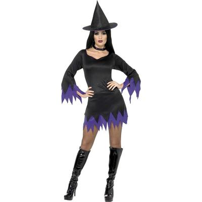 Smiffys Witch Costume Black & Purple