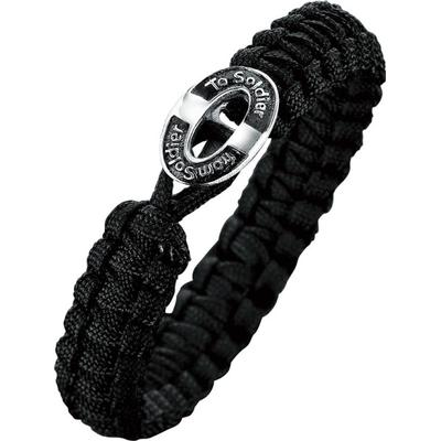 Aagaard From Soldier To Soldier Black Parachute Line Bracelet (07101048)