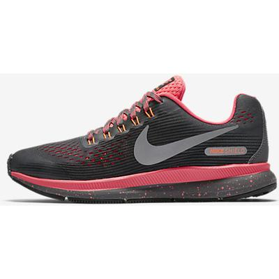 watch 1c3a2 9de2f Nike Zoom Pegasus 34 Shield Dark Grey Racer Pink Black Reflect Silver (