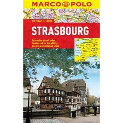 Strasbourg Marco Polo Laminated City Map (Övrigt format, 2017)