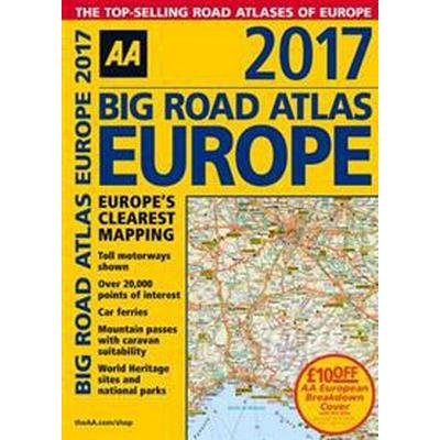 AA 2017 Big Road Atlas Europe (Pocket, 2016)
