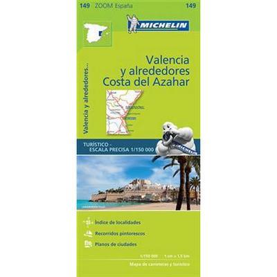 Valencia Costa del Azahar Zoom Map 149 (Karta, Falsad., 2017)