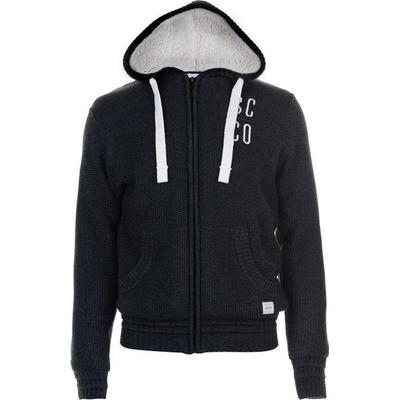SoulCal Deluxe Borg Knitted Hoody Charcoal Marl (55211825)