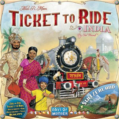 Ticket to Ride India & Switzerland Resespel