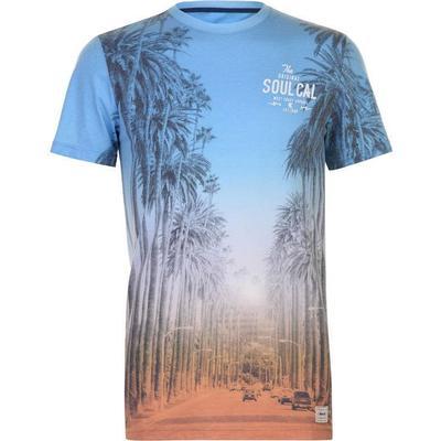 SoulCal Deluxe Sunset Boulevard T-shirt White/Blue (59072738)