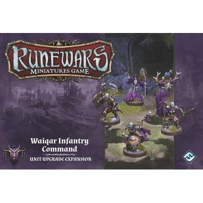 Fantasy Flight Games Runewars Miniatures Game: Waiqar Infantry Command Unit Upgrade Expansion