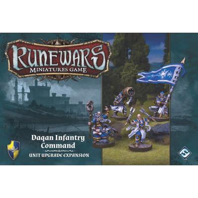 Fantasy Flight Games Runewars Miniatures Game: Daqan Infantry Command Unit Upgrade Expansion