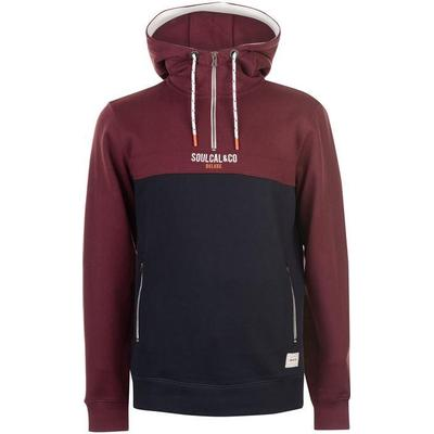 SoulCal Deluxe Zip Sweater Navy/Burgundy (55607760)