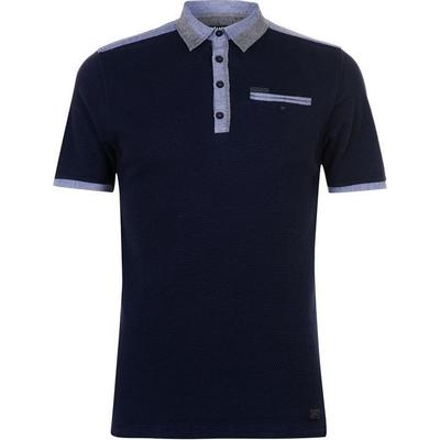 Firetrap Blackseal Chambray Polo Shirt Navy (54849322)