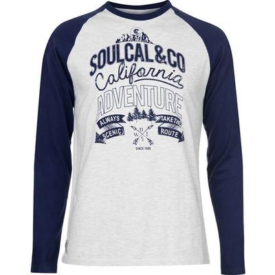 SoulCal Trek Long Sleeve T-shirt Ash Marl/Navy (55824001)