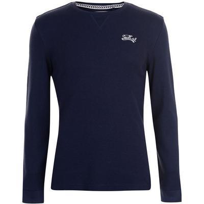 SoulCal Waffle Long Sleeve T-shirt Dark Navy (59024722)