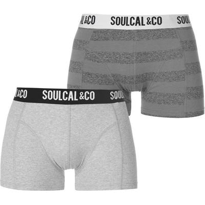 SoulCal Trunk Boxers 2-pack GreyMarl/Stripe (42221525)