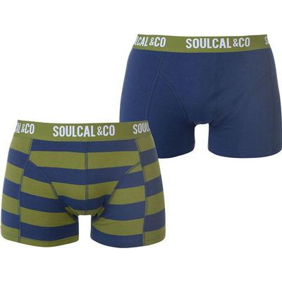 SoulCal Trunk Boxers 2-pack Denim/GrnStripe (42221591)