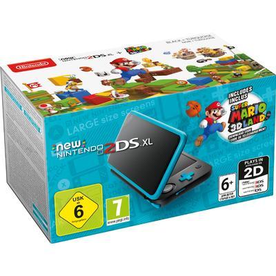 Nintendo New 2DS XL - Black/Turquoise - Super Mario 3D Land