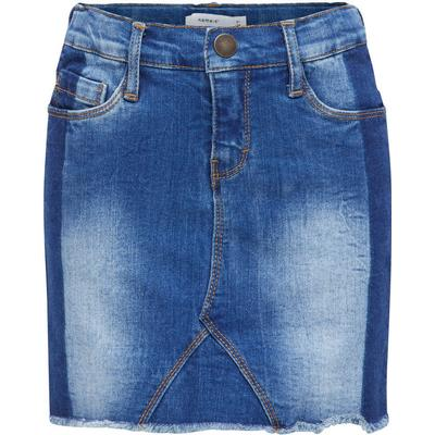 Name It Super Stretch Denim Skirt - Blue/Medium Blue Denim (13146600)