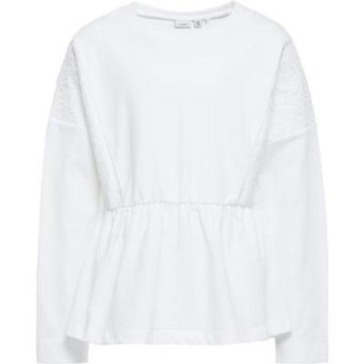 Name It Loose Lace Sweatshirt - White/Snow White (13146095)