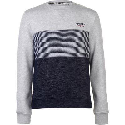 SoulCal Crew Neck Sweatshirt Grey/Navy (52404402)