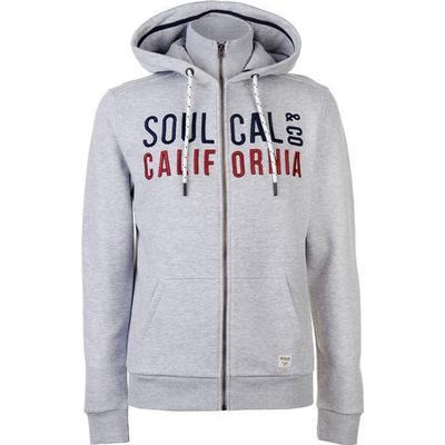 SoulCal Classic Zipped Hoodie Grey Marl (55428825)