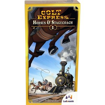 Ludonaute Colt Express: Horses & Stagecoach