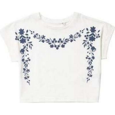 Burton Floral Print Crop Top - White (68T01AWHT)