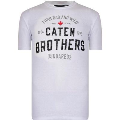 DSquared2 Caten Brothers T-shirt White (S74GD0389S22507100)