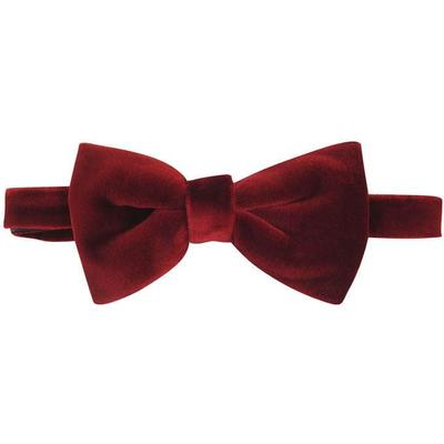 Hugo Boss Velvet Bow Tie Dark Red (50375854)