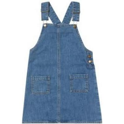 Burton Mid Blue Denim Pinafore Dress - Blue (68Q02ABLU)