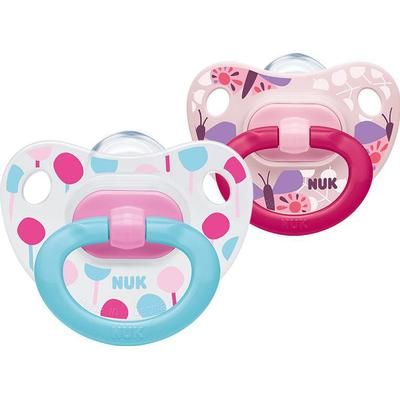 Nuk Classic Happy Days Silicone Soother 0-6m