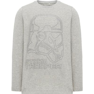 Name It Printed Long Sleeved Top - Grey/Grey Melange (13147463)