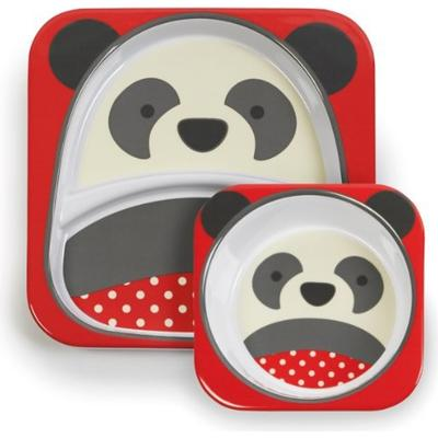 Skip Hop Zoo Melamine Plate & Bowl Set Pia Panda