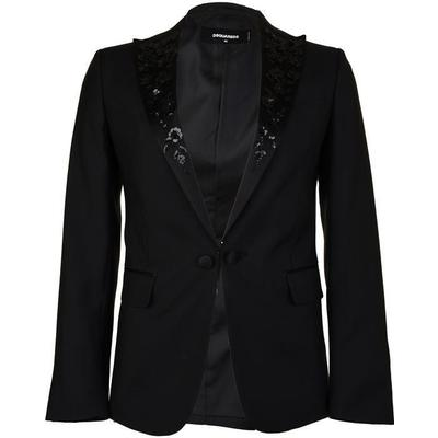 DSquared2 Embroidered Lapel Blazer Black (S74BN0810S39408900)