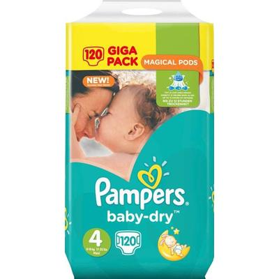 Pampers Baby Dry Size 4, 8-16kg, 120 pcs